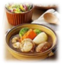 オホーツク産ごろっと帆立と北海道野菜のスープカレー